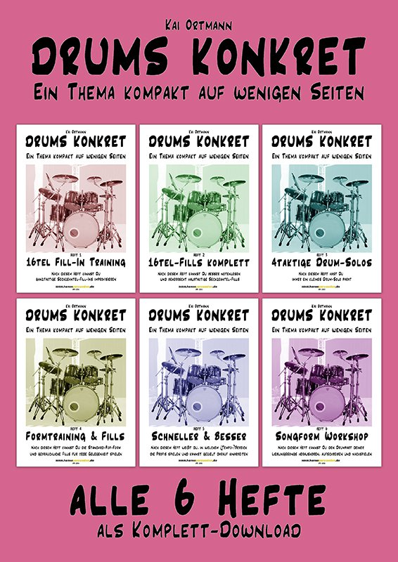 DRUMS KONKRET – 6 kompakte Schlagzeugkurse • DOWNLOADVERSION